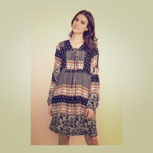 ✨MYSTREE FLORAL PRINT LACE UP DRESS BOHO STYLE✨